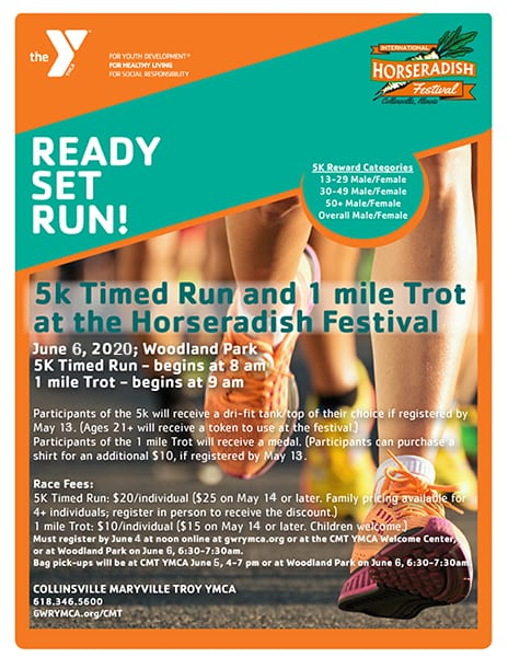 international horseradish festival 5k run collinsville il