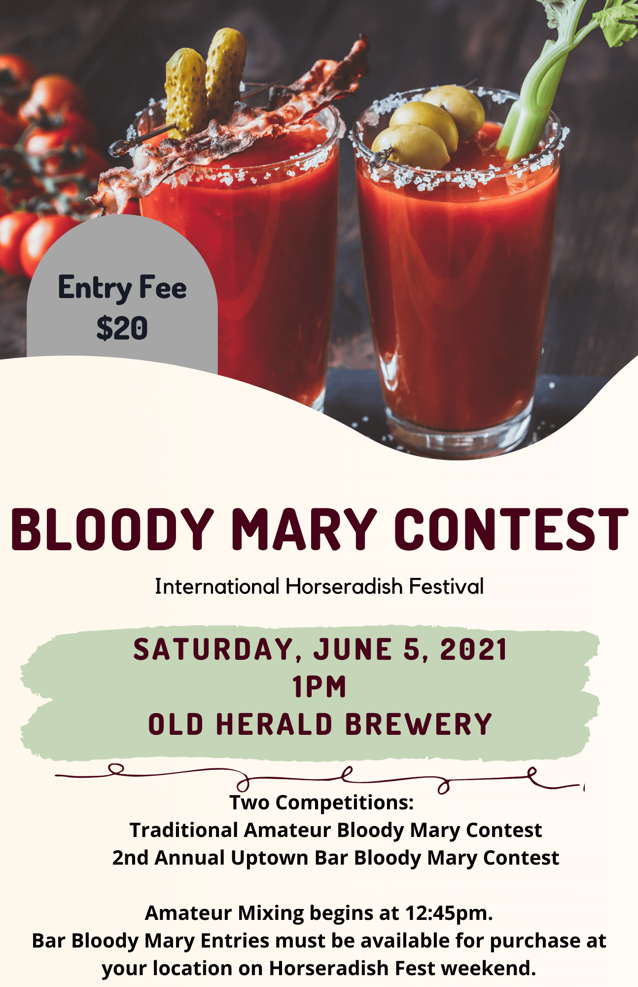Alternate text 2021 bloody mary contest collinsville il